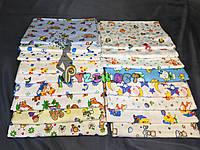 Комплект нежные байковые пеленки для мальчика (5 шт), фото 1