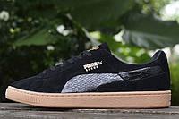 Мужские кроссовки PUMA Suede Classic Mono Reptile Pack Black (Пума) черные