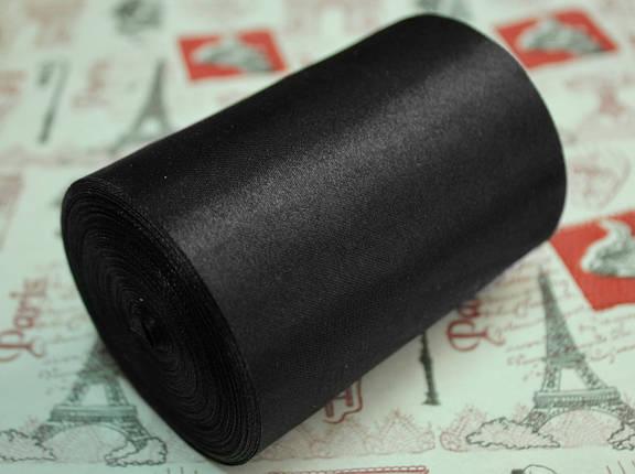 Лента атласная черная (ширина 10см, намотка 20м), фото 2