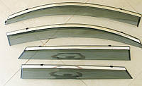 Дефлекторы окон ветровики на HYUNDAI ХУНДАЙ Хендай Tucson TL 2015 ASP с молдингом нержавеющей стали