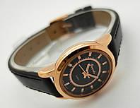 Женские часы Guardo - Italy, цвет золото, черный циферблат