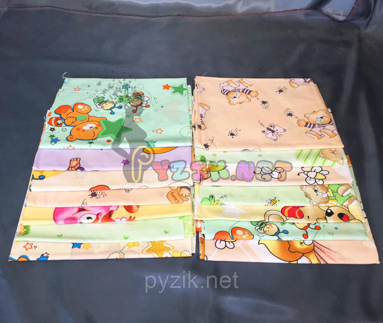 Комплект нежные ситцевые пеленки нейтральные тона (5 шт)
