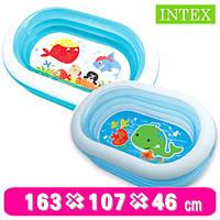 Детский надувной бассейн кит 57482 Intex 163*107*46 см