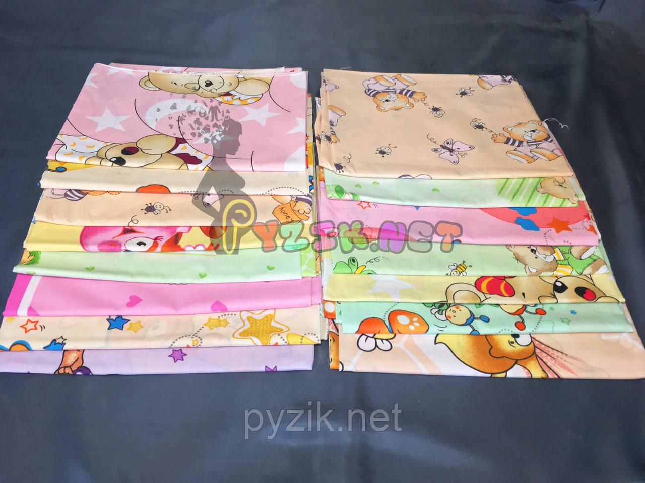 Комплект нежные ситцевые пеленки для девочки (5 шт)