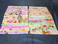 Комплект нежные ситцевые пеленки для девочки (5 шт), фото 1