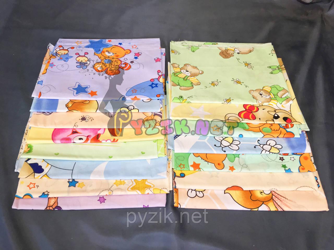 Комплект нежные ситцевые пеленки для мальчика (5 шт)