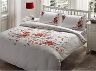 TAC Семейный комплект постельного белья delux saten Camila red