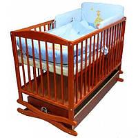 Детская кроватка Klups Radek II тик с ящиком