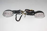 Повороты светодиодные LED карбон овальные