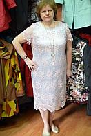 Нарядное платье с розовым гипюром