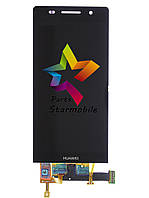 Дисплей для мобильного телефона Huawei P6, черный, с тачскрином, ORIG