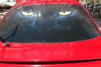 Наклейка на заднее стекло автомобиля 3D 130cm*70cm