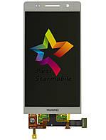 Дисплей для мобильного телефона Huawei P6, белый, с тачскрином, ORIG, фото 1