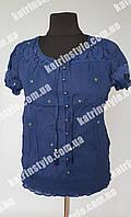 Летняя женская блуза синего цвета