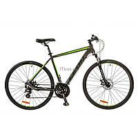 "Велосипед Leon 28"" HD-80 2017 AM 14G DD рама-21"" Al серо-зеленый (OPS-LN-28-011)"
