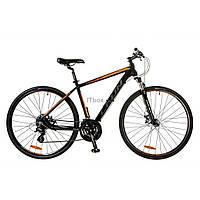 "Велосипед Leon 28"" HD-80 2017 AM 14G DD рама-21"" Al черно-оранжевый (OPS-LN-28-010)"