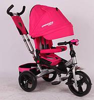 Трехколесный велосипед-коляска Azimut Crosser T-400 колеса Пена розовый