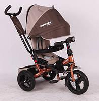 Трехколесный велосипед-коляска Azimut Crosser T-400 колеса Пена коричневый