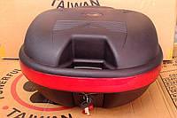 Мото пластиковий кофр посилений якісний чорний RW 42-36-25 висота (багажник)
