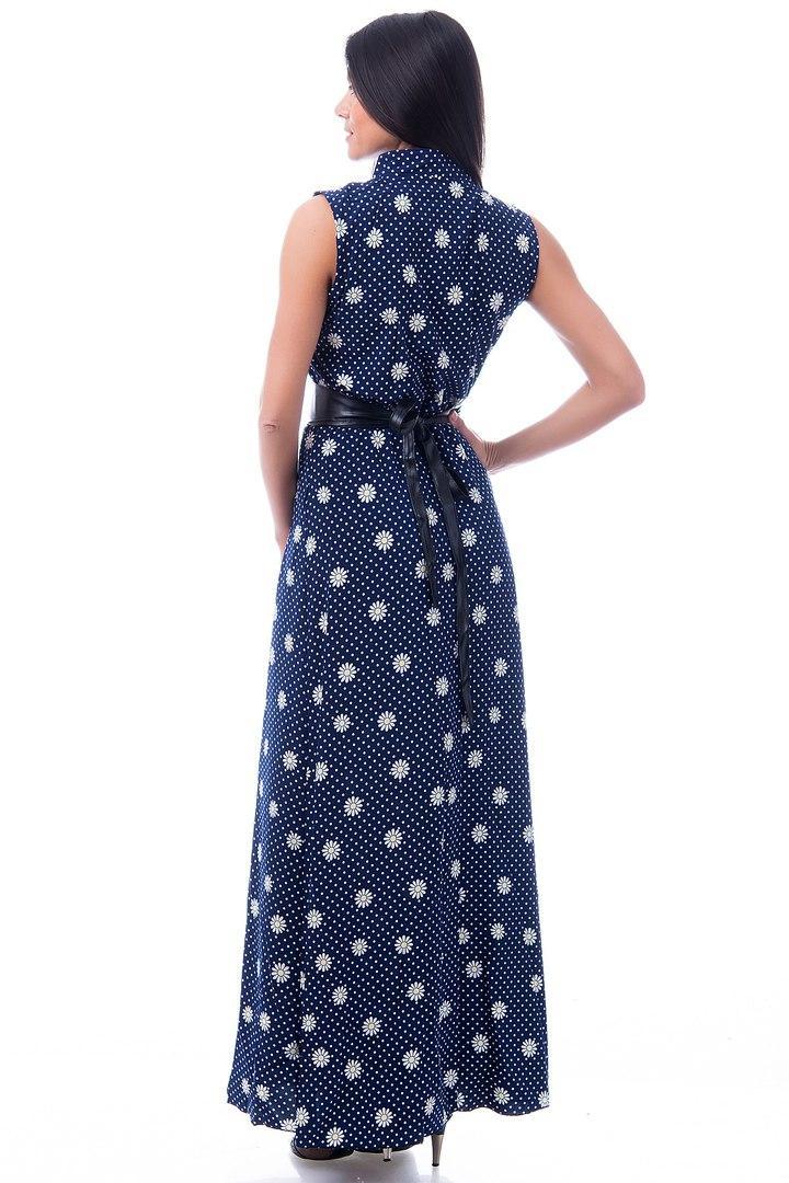 Платье летнее стойка воротник