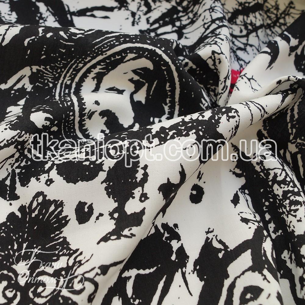 Ткань Штапель принт (мэрилин монро)