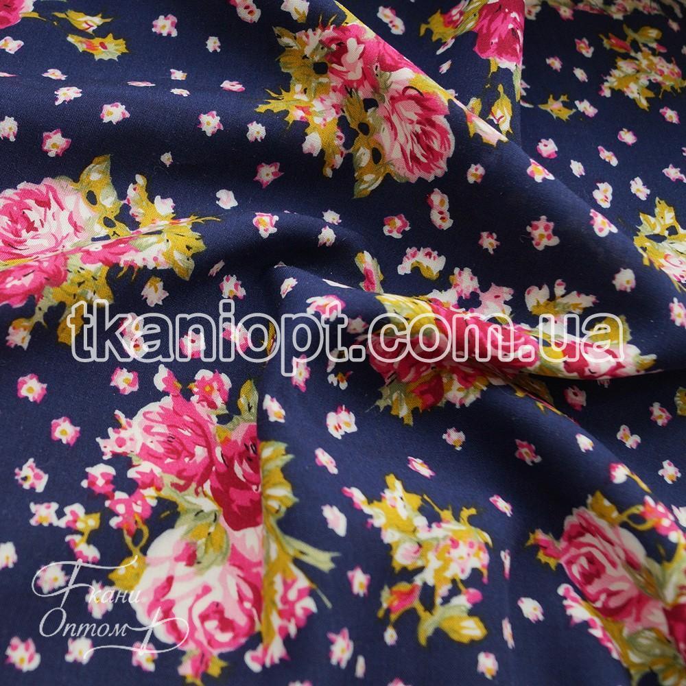 Ткань Штапель принт (цветы)