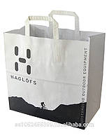 Пакет белый крафт бумажный с логотипом №20 (350х320х150)