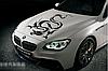 Наклейка на автомобиль 3D 36*50cm дракон черный