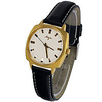 Позолоченные электронно-механические кварцевые часы Луч сделано в СССР - Shop vintage watches