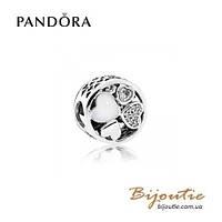 Pandora Шарм СЕРДЦА ЛЮБВИ #792143CZ серебро 925 Пандора оригинал