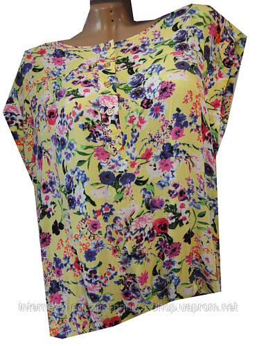 Блузка женская 388 цветы (лето)