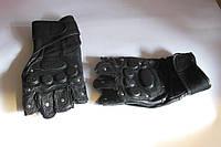 Рукавички чорні шкіра