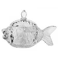 Цукерниця скляна Риба SP-366/B1 Interos