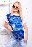 Женская летняя футболка Air Ван Гог картина молоко