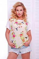 Женская летняя футболка Air колибри принт молоко
