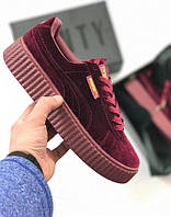 Кроссовки Puma x Fenty by Rihanna Velvet Creepers-Royal Purple, пума рианна, puma suede