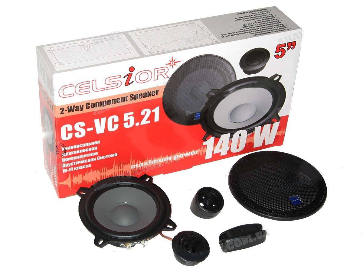 Колонки Celsior CS-VC 5.21 13см 2-х компонентные с кроссовером (компл.)