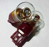 Светодиодная автолампа 7443 - W21/5W - цоколь W3х16q, 20W RED (380Lm) (CREE LED)  двухконтактная