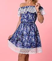 Модное платье с кружевом
