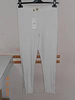 Узкие белые брюки Absolu со шнуровкой, фото 1