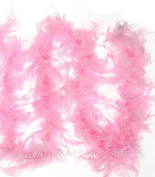 Боа светло-розовое 155 см
