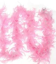 Боа из перьев розовое 155 см