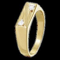 Мужское серебряное кольцо с позолотой «014»