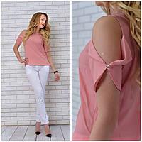 Блузка женская, модель 901, розовая пудра, фото 1