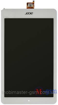 Дисплейный модуль Acer Iconia One B1-820 белый, фото 2