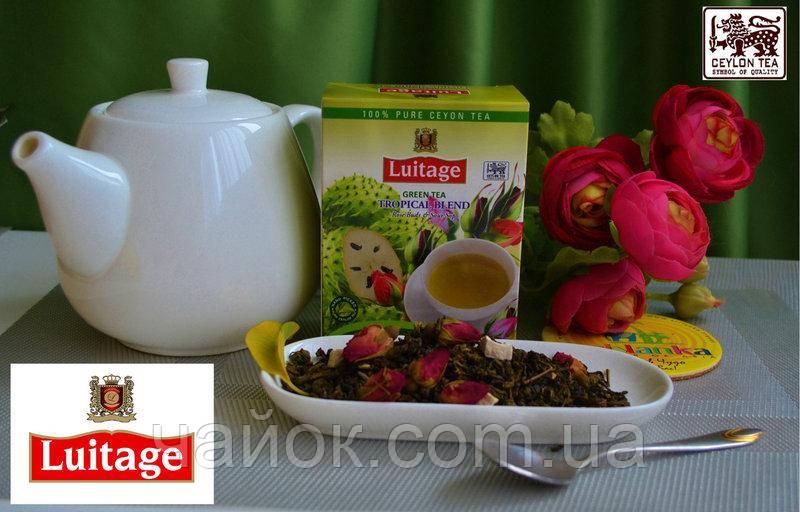 Чай Луитаж LUITAGE Зеленый с бутонами розы и Саусепом100 гр