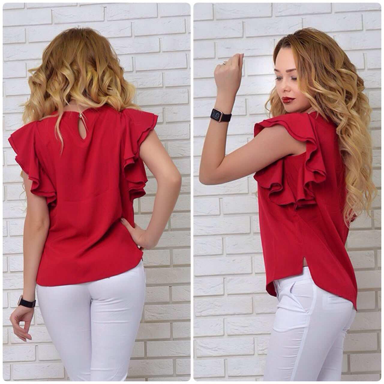 Блузка нарядная, модель 902, марсала, фото 1