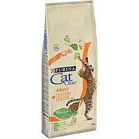 [ Сat Chow для дорослих котів 15 кг ] Корм Кет Чау  для дорослих котів з куркою та індичкою
