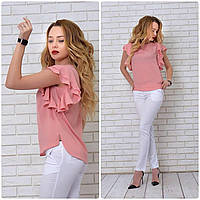 Блузка нарядная, модель 902, розовая пудра