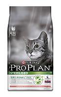 [ ProPlan Cat Sterilized 10 кг для котів ] Корм Про План для стерилізованих котів з лососем